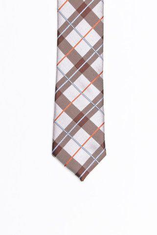 Maroon & White Skinny Tie