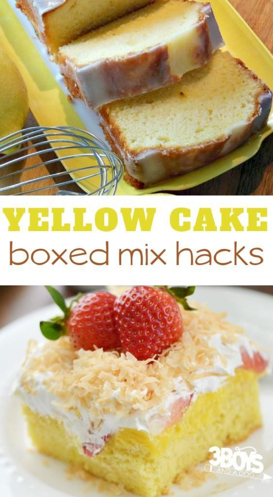 Yellow Cake Mix Recipe Ideas Yellow Cake Mix Recipes Boxed Cake