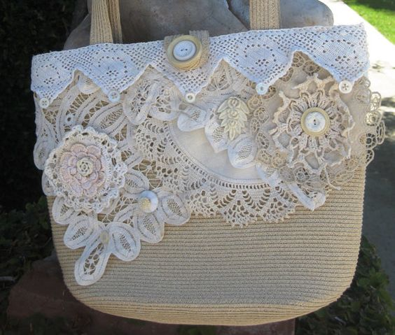 Upcycled Shabby Chic Purse Collaged with by MakeSomethingHappen, $75.00: