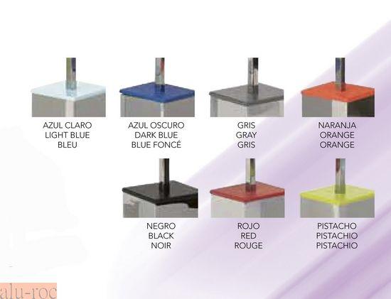 Pon un toque de color a la decoración de tu baño con la opción Cromo/Color