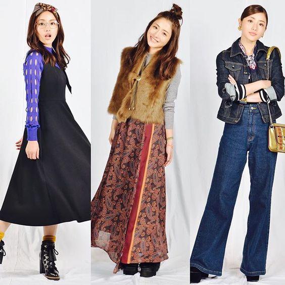 色々なファッションの石原さとみさん