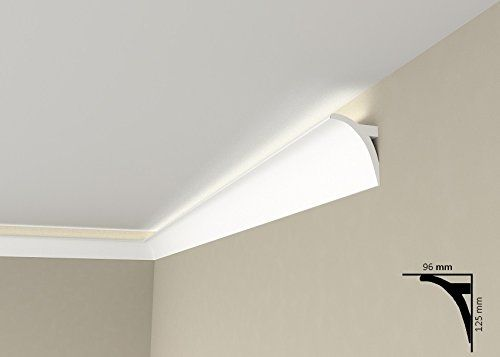 """Lichteiste """"Wiesemann QL011"""" - Stuckleiste für indirekte Beleuchtung (aus hochfestem Polyurethan)"""