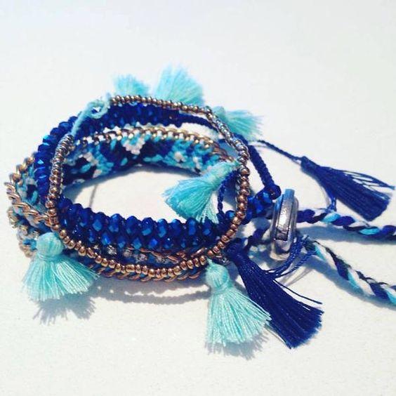 Set of 3 Funky Bracelets for Summer Fun..