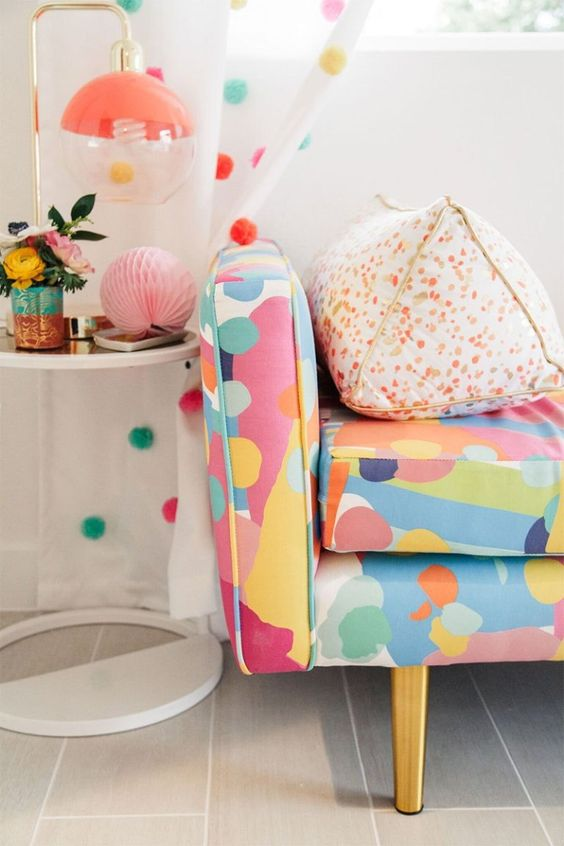 Colorful Decor: Oh Joy! for Target lamp + decor in Kelly's Golightly's guest bedroom. #ohjoy #targetstyle #villagolightly #interiordesign #ohjoyfurniture