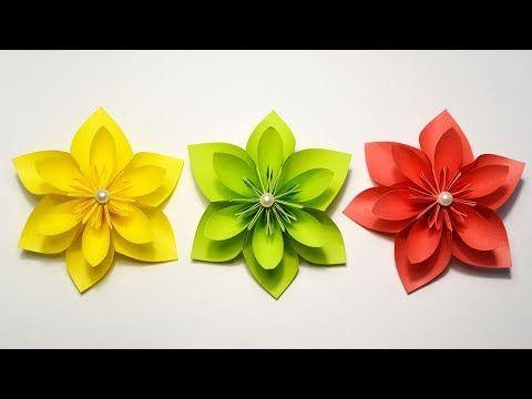 My Beautiful Paper Flowers Origami Craft Idea Tutorial Diy