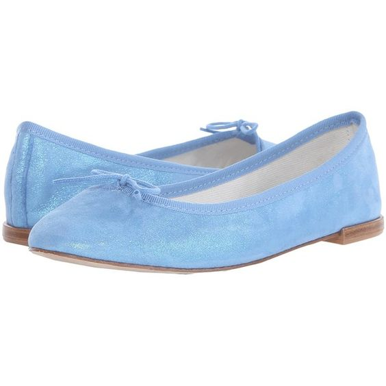Repetto Cendrillon (Horizon) Women's Flat Shoes ($113) ❤ liked on Polyvore featuring shoes, flats, purple, ballet pumps, leather shoes, flat shoes, bow flats and leather slip-on shoes