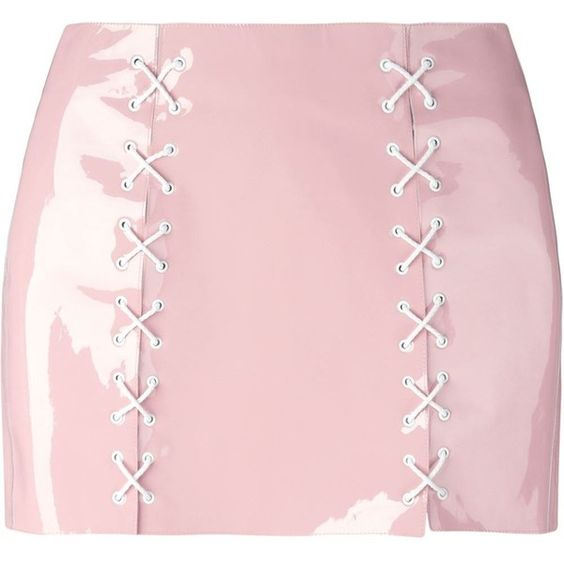 Pink skirts, Leather skirt and Patent leather on Pinterest