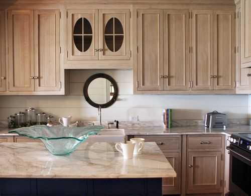 Bleached quartersawn oak cabinets for the home for Bleaching kitchen cabinets