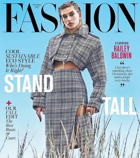 Hailey Baldwin for Fashion Magazine Canada October 2017