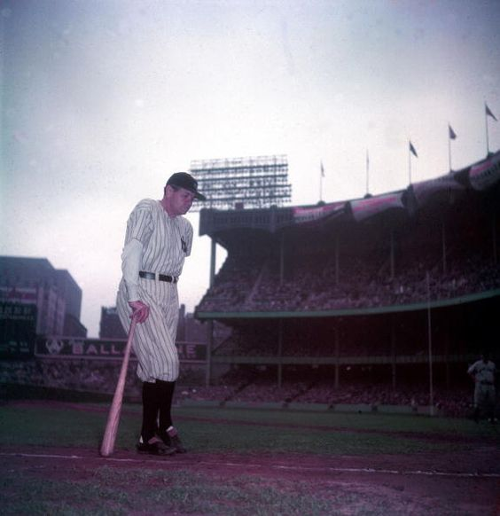 George Herman Ruth wears the pinstripes for the last time as his number 3 is retired at Yankee Stadium on June 13, 1948 (also the 25th anniversary of the stadium's opening). Two months later, the Bambino would die from cancer-related pneumonia at 53.