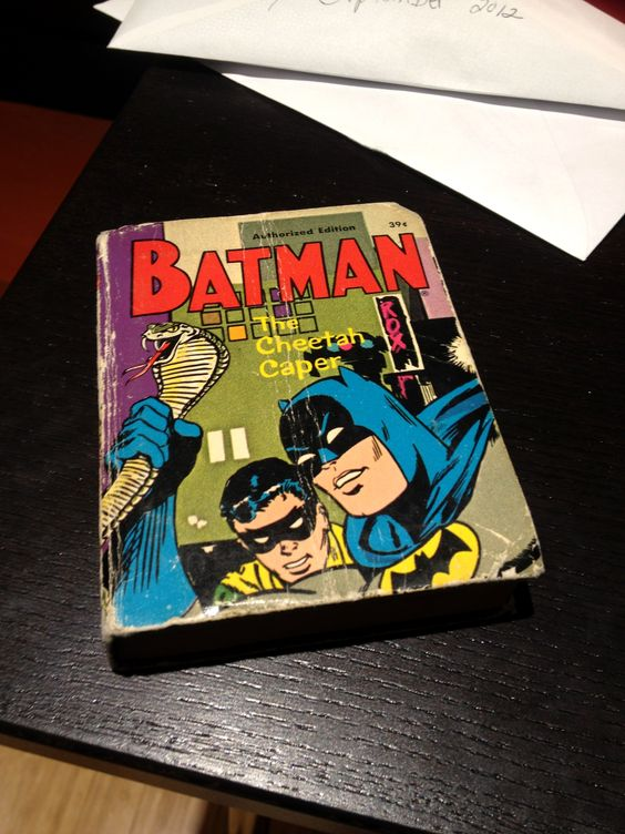 This is the first book I remember being given as a child. I spent hours and hours pouring over the text and pictures. It was from my grandmother -- who also hand sewed a Robin costume for me that year.