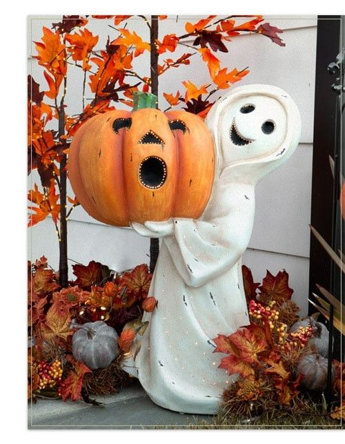 Outdoor Fiber Optic Friendly Ghost Ghost Decoration Halloween