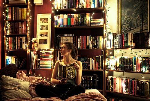 Reading makes me glow.