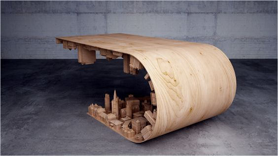 Riptide Table By Michael Coffey | U003cstrongu003eRiptide Tableu003c/strongu003e Is  Beautiful Piece Of Furniture Designed By Michael Coffey. Double Leaf Coffee  Tabu2026