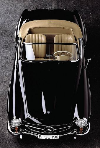 .Mercedes-Benz classic black convertible. Two things you want in a car: Never goes out of style & starts every time!