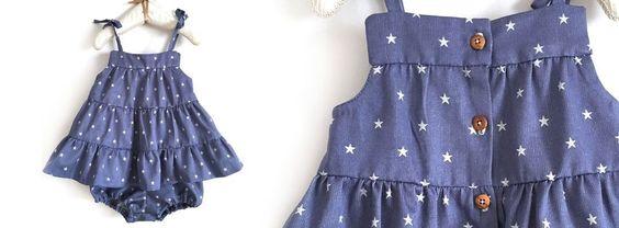 Free Pattern (click DESCARGAR) and Phototutorial - Cómo hacer un vestido de bebé con patrón incluido