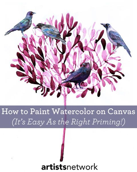 How to Use a Canvas for Watercolor Painting: It's All About Priming
