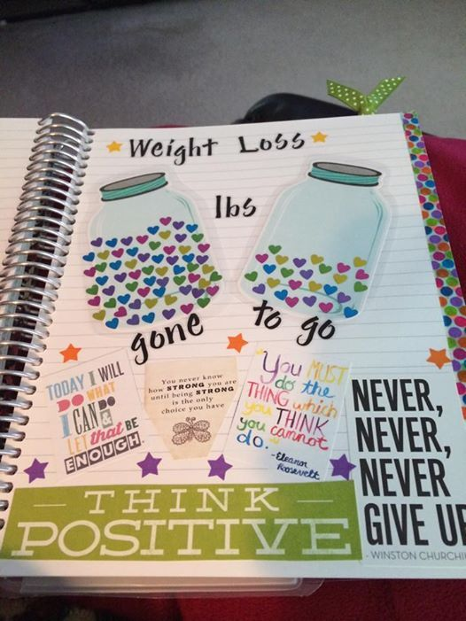 weight loss tracker (I like the jar idea):