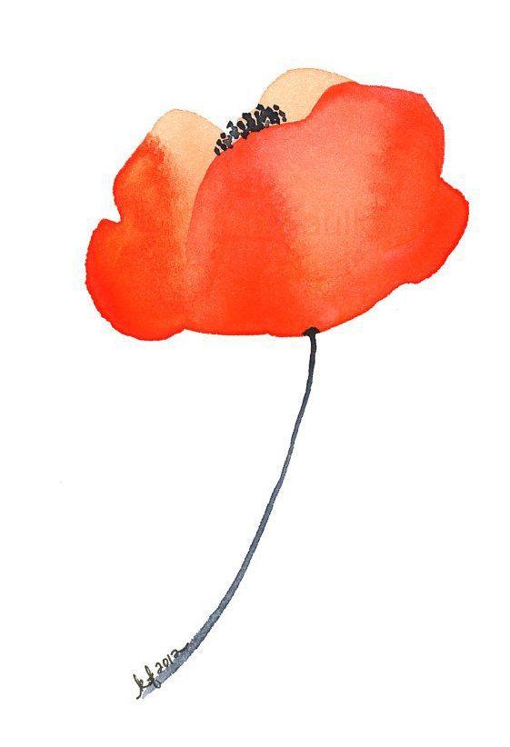 Impresión del arte de la flor de la amapola por KarenFaulknerStudio