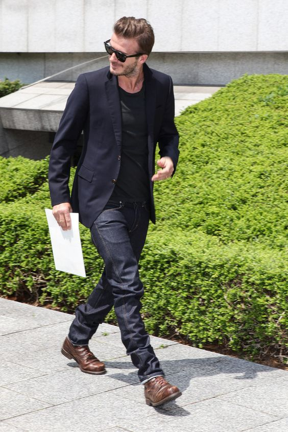 David Beckham - Arrivals at the Louis Vuitton Runway Show
