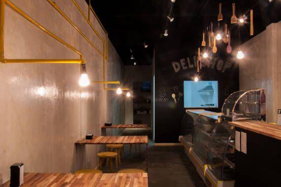 Deli Shop : Espaços gastronômicos modernos por Studio dLux