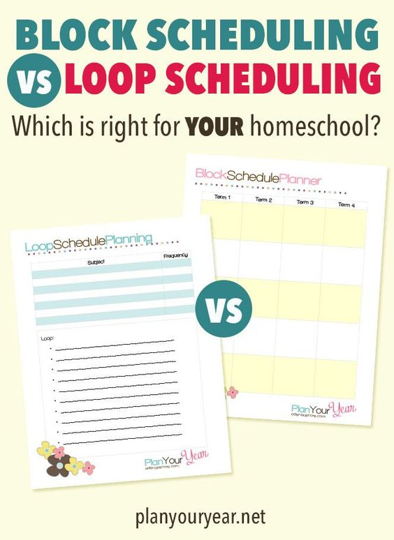 Block Scheduling Versus Loop Scheduling: Which One is Right For YOUR Homeschool?
