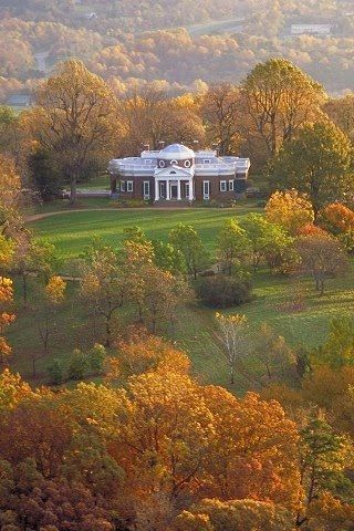 Monticello in the fall. The single most beautiful hill in the world. The views from TJ's house to die for.