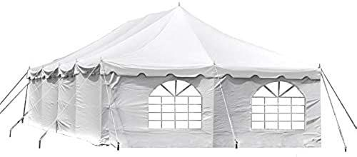 New 20 Foot 40 Foot Deluxe White Canopy Pole Complete Outdoor Party Tent Set Two Cathedral Sidewalls Two Solid Sidewal In 2020 Party Tent Canopy Poles White Canopy