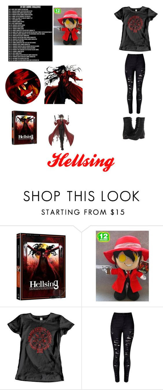 """""""Day 14: Hellsing"""" by may202203 ❤ liked on Polyvore featuring Naughty Monkey"""
