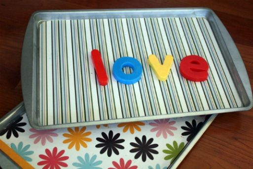 Cookie sheet + magnets!