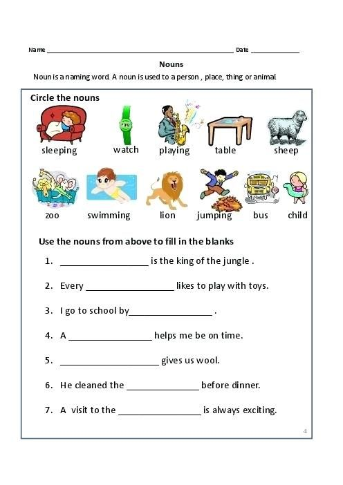 Proper Nouns Common Nouns And Capitalization Worksheets Nouns Worksheet,  Proper Nouns Worksheet, Common And Proper Nouns