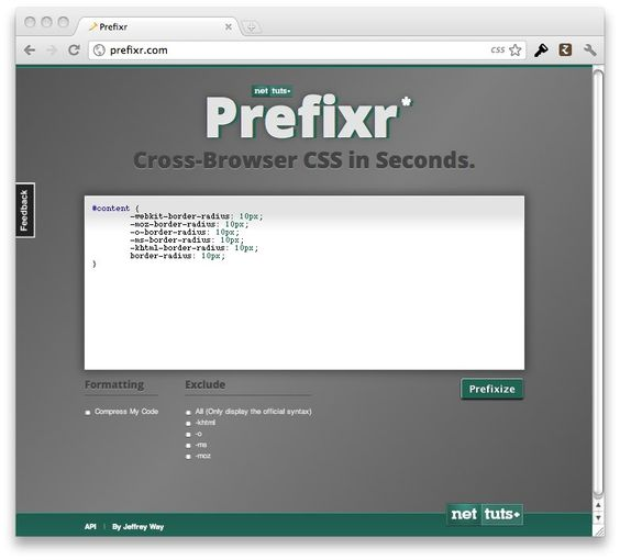 Cross Browser Css In Seconds With Prefixr With Images Css