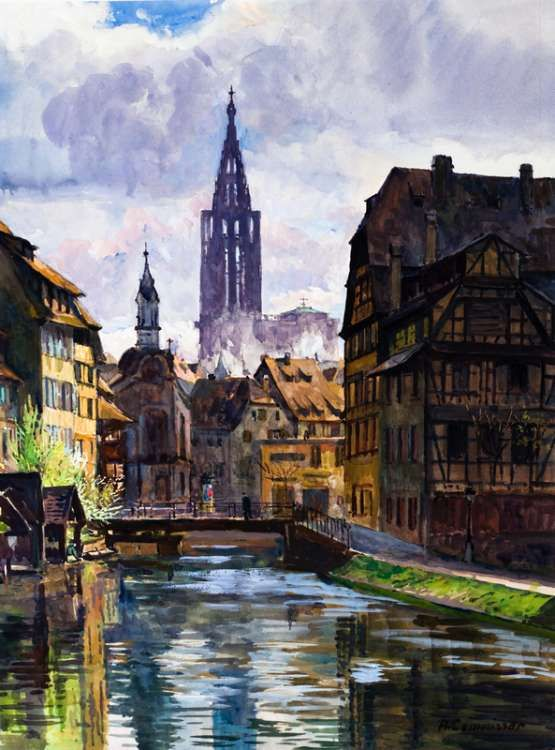 devant la cathdrale de strasbourg asuka kazama prints and drawings pinterest strasbourg and html
