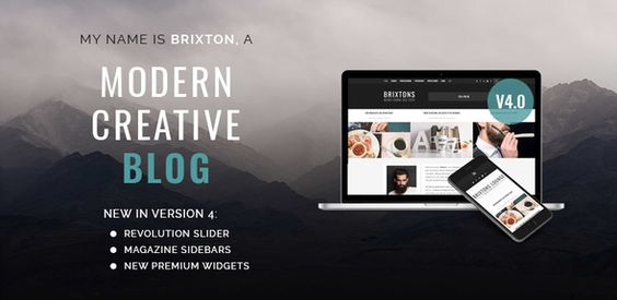 Brixton - WordPress Blog Theme . WordPress blog theme is the core of every good WordPress powered website. It all begins with storytelling. Brixton brings a unique style, loved by hundreds of happy