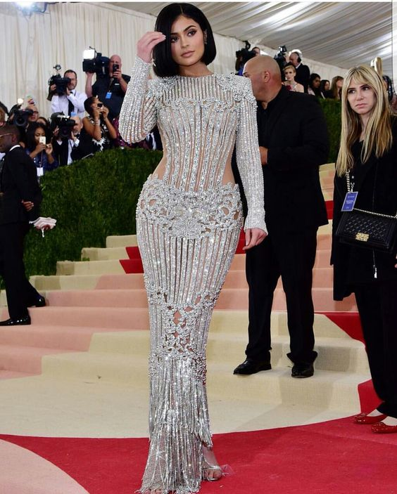 Balmain for Kylie Jenner, Met Gala 2016