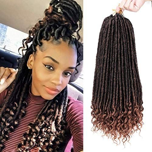 New 20 Straight Goddess Locs Crochet Hair Faux Locs Curly Ends 6
