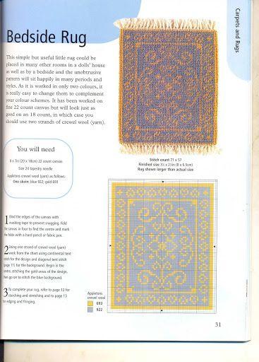 Alfombras para casa de mu ecas alfombras miniatura en - Alfombras para casas ...
