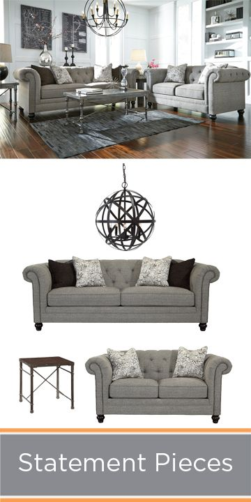 Make a big style statement in your living room with pieces that stand out.