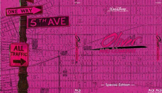 Oliver & Company - Alternate Disney Blu-Ray Slipcover