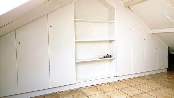 Een op maat gemaakte inbouwkast met of zonder schuifdeuren voor in uw slaapkamer, zolder, woonkamer of keuken. #inbouwkast #intia #tilburg #interieur #bouw #meubelmakerij