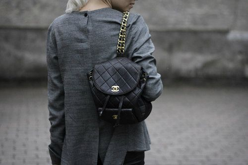 chanel backpack streetstyle monday inspiration