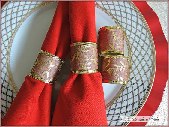 Anéis de Guardanapos feitos com rolo de papel alumínio (um gato desaparecido e muita confusão)