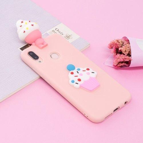 Coque Huawei P20 Lite en silicone - Cupcake souriant 3D   Trendy ...