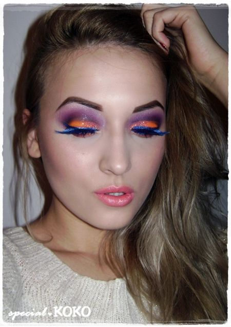 Flamingo Bird Make-up Look