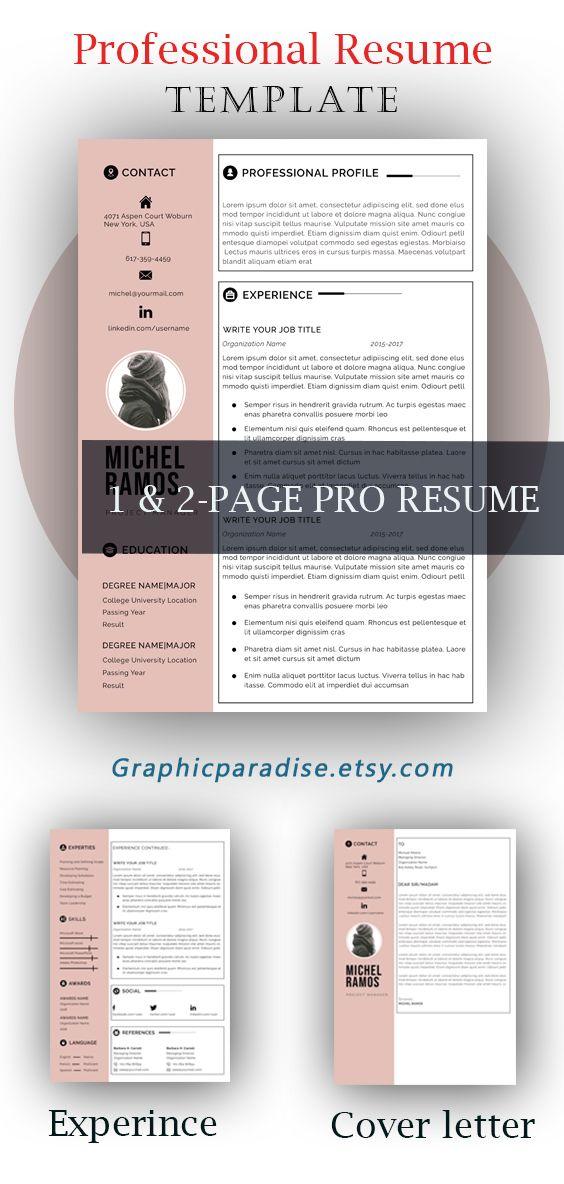 Resume Template Modern Resume Professional Resume Creative