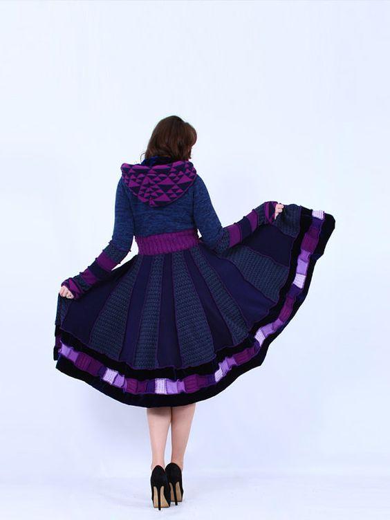 Luxury in Sapphire  Nymph Style Dream Coat by EnlightenedPlatypus, $428.00