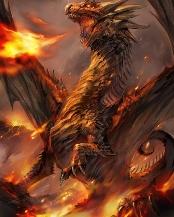 "His laughter rumbled like thunder as he struggled to rise. ""It matters not what happens to me. My Dark Master, Lord of the Night arises, and there is nothing you can do to stop him.""  ~Wendy Hamlet (B5: Rise of the Phoenix) (Fire Drake by sansyu)"