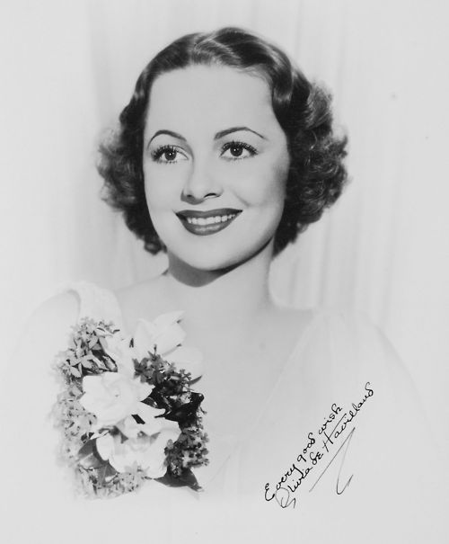 Olivia de Havilland. So pretty.: