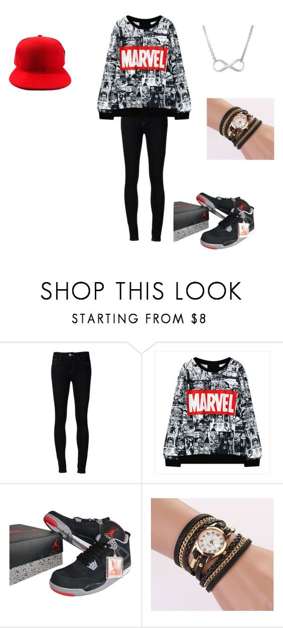"""Marvel Outfit"" by nicole-bby1 ❤ liked on Polyvore featuring Ström and NIKE"
