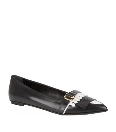 Tod's Fringed Pointed Ballerina Pump available to buy at Harrods. Shop women's shoes online and earn Rewards points.